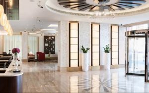 lobby area Warwick hotel Dubai